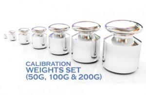 Pharmacy Balance Calibration Weights Set (50g, 100g & 200g)