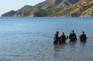 scuba diving taganga