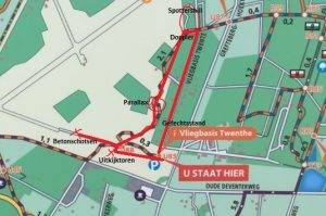 Ingekorte wandelroute Vliegveld Twente