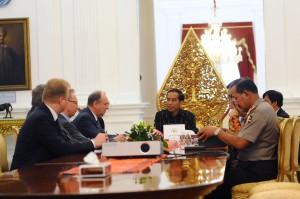 Presiden Jokowi menerima Sekretaris Dewan Keamanan Rusia Nikolay P. Petrushev, di Istana Merdeka, Jakarta, Rabu (10/2) pagi. (Foto:Humas/Oji)