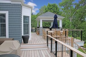 Chappaqua NY home addition with larger deck