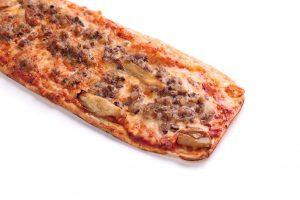 Pizza butifarra de perol con ceps