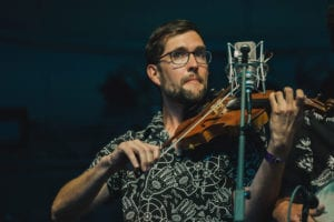 Joe Troop on fiddle