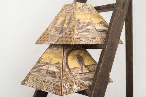 Abat-jour Pyramide Toile de Jouy