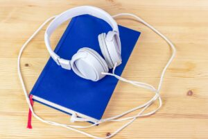 audiobook, tablet, touch screen