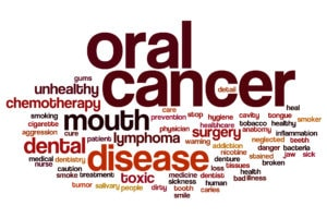 oral cancer exam at the dentist