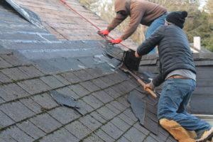 Roof Repair - Removing Shingles Before Replacing Roof