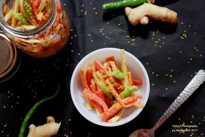 Carrot, Mango Ginger and Green Chilli Pickle