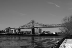 Montreal Bridge in Black and White