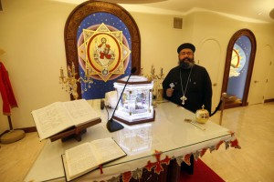 KEN GIGLIOTTI / WINNIPEG FREE PRESS  Rev. Marcos Farag of Winnipeg's St. Mark Coptic Orthodox Church is looking forward to the visit of Pope Tawadros II, the spiritual leader of the Coptic church