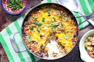 burrito in a skillet, gluten free