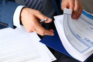Vertrag, Hände, Unterschrift