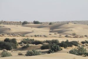 A View of Sand Dunes in Desert National Park, Rajasthan
