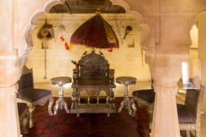 Royal Chair at The Thar Heritage Museum , Jaisalmer