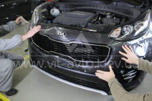 Антигравийная пленка на Kia Sportage фото 1