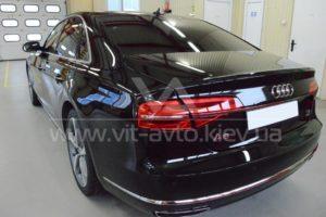 Нанокерамика на Audi A8 вид сзади фото 1