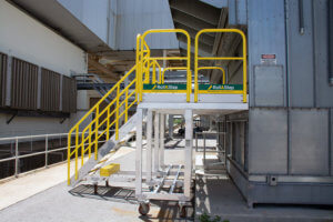 Rolling Metal Stair Platform For Duke Energy