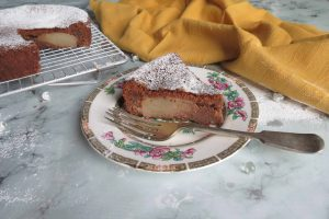 Chocolate and Pear Cake; flourless and easy to make dairy free too as well as gluten free