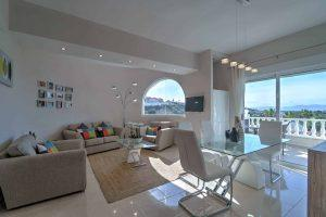 interior real estate photography shot with costa blanca view