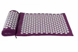 purple accupressure mat and pillow set