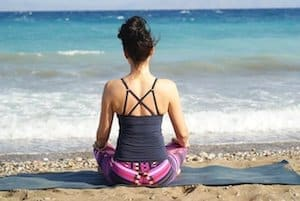 free meditation on Cronulla beach