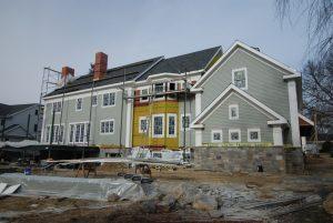 construction progress photo with siding