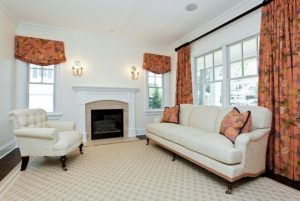 Traditional living room in Rye NY custom Colonial