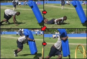 youth football tackling drill