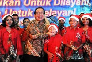 Mensesneg Pratiko menghadiri Perayaan Natal Bersama Kantor Lembaga Kepresidenan dan Kementerian Koordinator, di Jakarta, Sabtu (10/1) malam