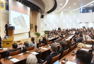 President Jokowi delivers public lecture at Hankuk University of Foreign Studies, Seoul, South Korea, Tuesday (11/9). (Photo: Rahmat/PR)
