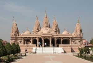 Front View of Akshardham Temple in Jaipur city