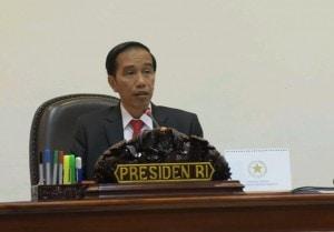 Presiden Jokowi memberi arahan kepada para peserta Rapat Terbatas mengenai Pencegahan Tindak Kekerasan dan Penindasan Terhadap Anak-anak (20/1), di Kantor Presiden, Jakarta.