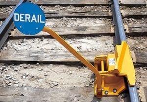 railcar derail systems