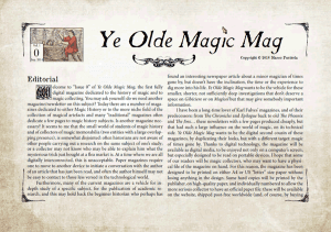 Ye Olde Magic Mag - Vol. 1 n. 0