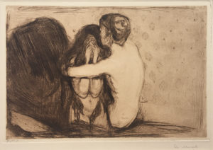 Edvard MUNCH Consolation or Trost. Signed in pencil.