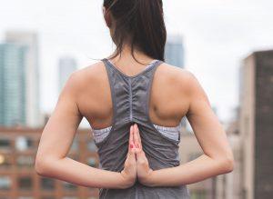woman demonstrating good posture
