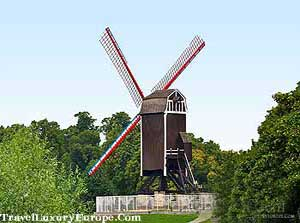 st janshuis windmill in Bruges