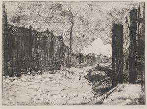 Hamburg, Freihafen (Hamburg Harbor) by Emil Nolde original print for sale