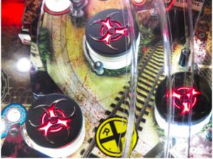 Walking Dead Pinball Hooked on Pinball Pop Bumper Caps