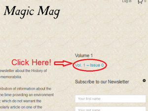 How to dowload Ye Olde Magic Mag - Step 1