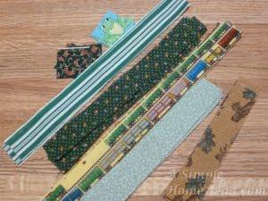 log cabin fabric strips