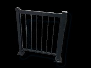 Rampe de balcon à barreaux