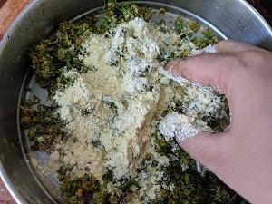 Adding gram flour or chickpea flour
