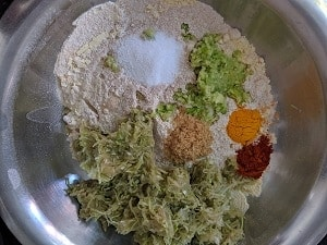 Ingredients for Dudhi muthiya