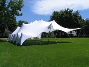 Stretch tent white