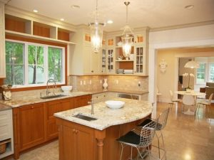kitchen dining area in rye ny home by demotte architects