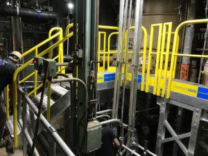 Custom Industrial Stair Work Platform Duke