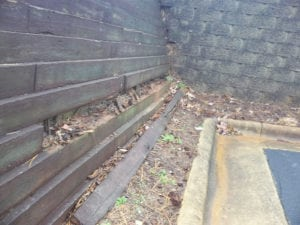 Rotten Wooden Retaining Wall - Slatter HOA Management