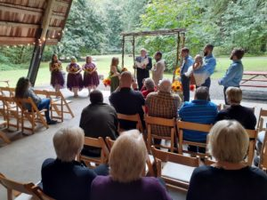 Wedding Ceremony for Sherry and Johnny at Eagle Fern Park 09-19-2019