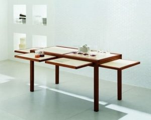 CONTEMPORARY FOLDED DINING TABLE SPACE SAVING